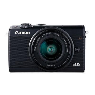 كاميرا كانون الرقمية EOSM100، دقة 24 ميجابكسل، واي فاي، اسود