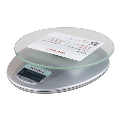 SOEHNLE ROMA DIGITAL KITCHEN SCALE ELECTRONIC FOOD MEASURING 5KG SILVER//GLASS