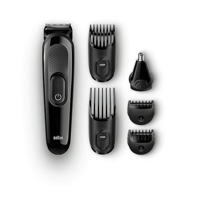 ماكينة حلاقة رجالي متعدد الاستخدامات 6 في 1 من براون، أسود