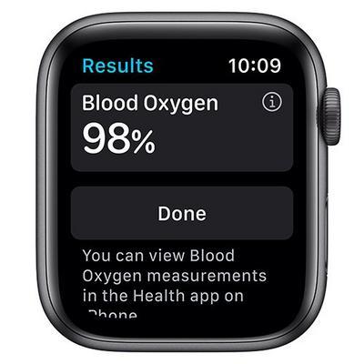 ساعة نايكي من السلسلة 6 قياس 40 مم مع نظام GPS بجسم مصنوع من الألومنيوم باللون الرمادي الفلكي مع سوار نايكي الرياضي أنثراسايت / أسود
