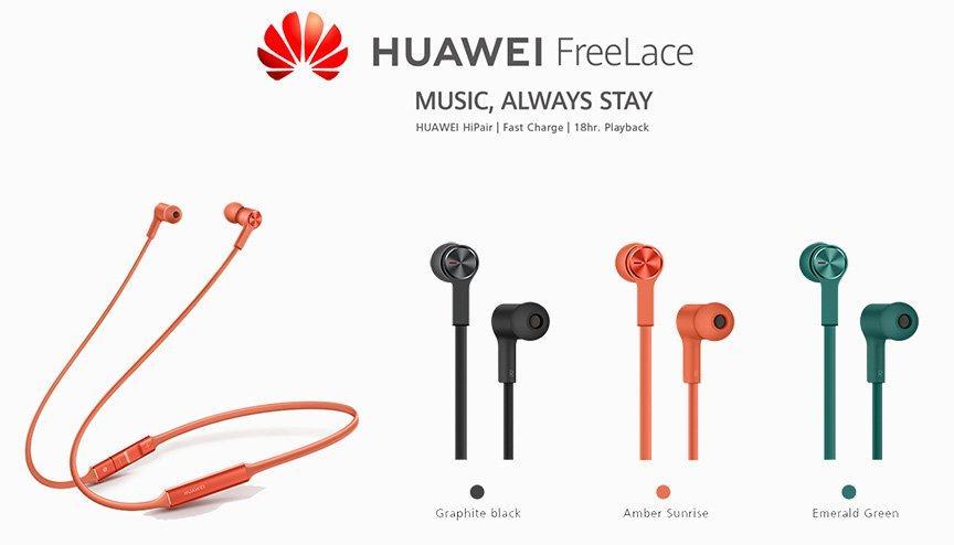 Huawei Freelace Bluetooth Earphones Green Extra Saudi