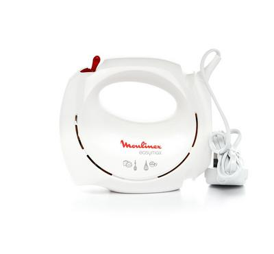 Moulinex Easymax Hand Mixer, 200W, 2 Speeds,White