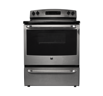 GE Free Standing Electric Range, 30 Inch, 4 Coils, Stainless /Black