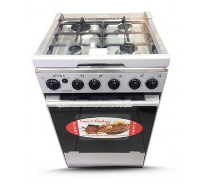Supra Cooker 50x55 Gas Oven Button Ignition Stainless Steel