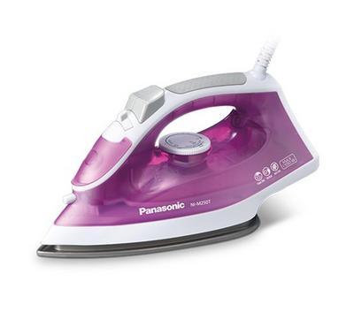 Panasonic iron Dry, Non stick, sole plate,