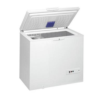 Whirpool Chest Freezer, 400L, Wired Shelves, White