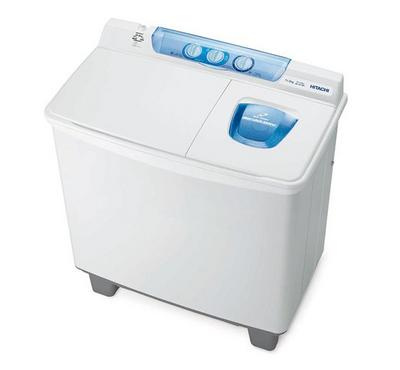 Hitachi  Twin-Tub Top Loading  Washer, Stainless Steel Spin Tub, Air Jet Dry, 10.5 Kg
