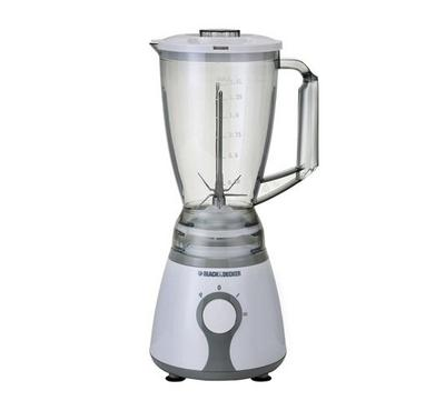 Black and Decker 1.5L Blender Plastic 300W, 2 Speed ,White