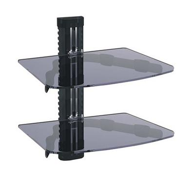 MX DVD and Receiver Wall Shelf, Tempered Glass, Maximum Load 20.0kg