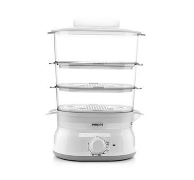 Philips Daily Collection 3Layer 9.0L Food Steamer 900W, Plastic White