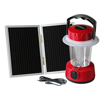 Brennenstuhl SCL 24 Solar LED Camping Lantern With Solar Panel (330x240mm) 3W Red