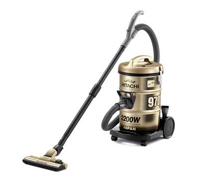 Hitachi Vacuum Cleaner, Drum Type, 2200W,21 L, Titanium Gold