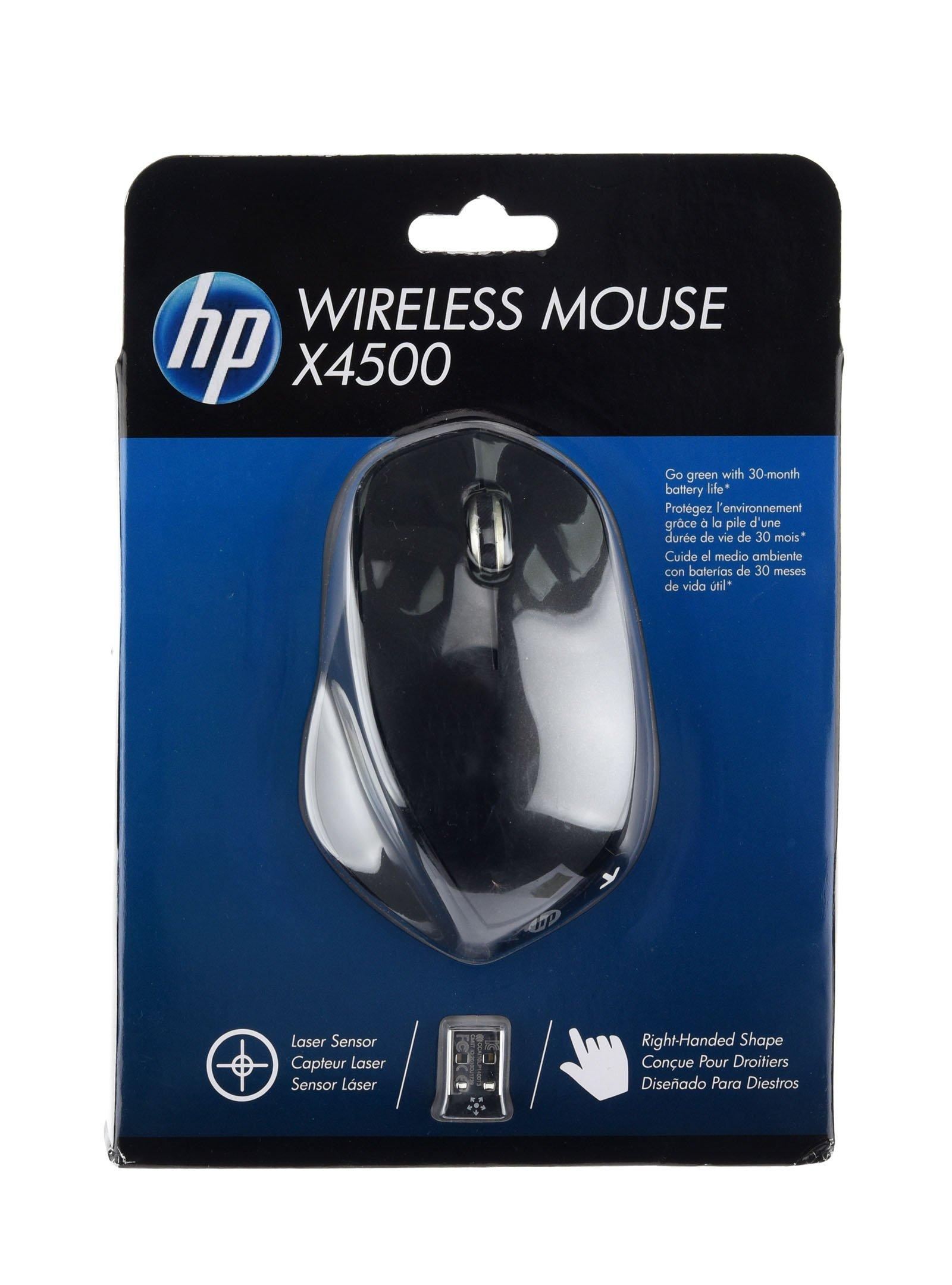 HP X4500 Wireless Mouse Sparkling Black