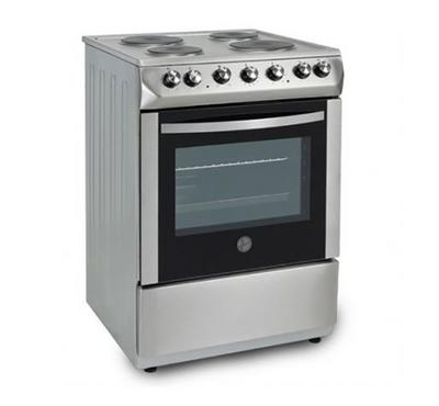 Hoover 60x60 Electric Cooking Range,4Hot Plates, Stainless Steel