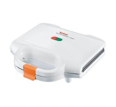 Tefal Sanwich Maker, Ultracompact, Panini Plates, White