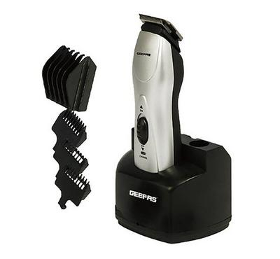 Geepas Rechargeable Hair Clipper Black/Silver