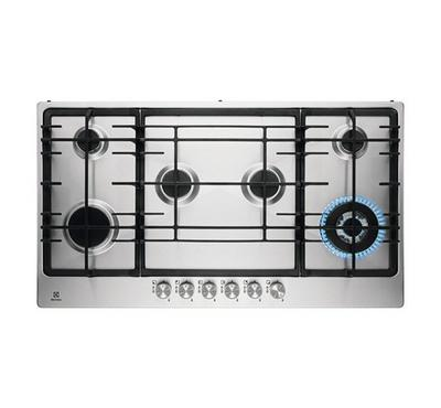 Electrolux 90cm Built-in Gas Hob, 6 Burners, Stainless Steel