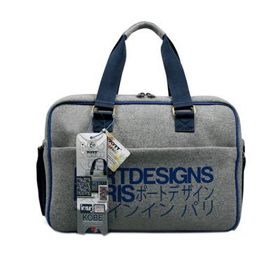 Port Design KOBE 15.6 Inch Trendy Laptop Toploading Bag Neoprene, Blue/Gray