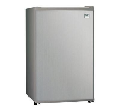 Daewoo 2.6Cu.ft Compact Refrigerator, Single Door, Mechanical control type, Color Silver