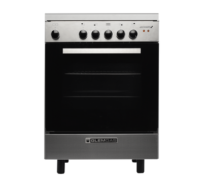 Glem Gas Cooker 60X60,4 Electric Plates,Steel,