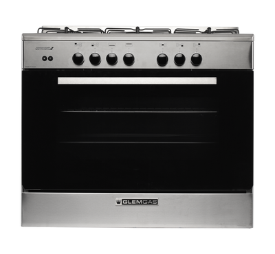 Glem Gas Cooker Size 90X60, 5 GB, Stainless Steel