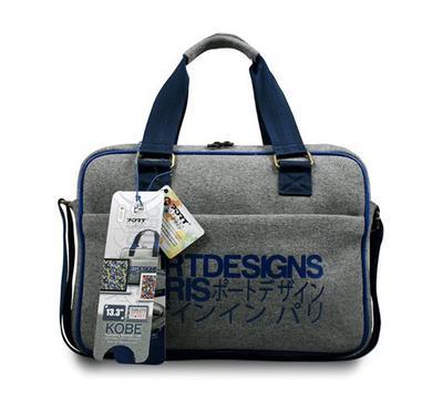 Port Design KOBE 13.3 Inch Toploading Laptop Bag, Grey/Blue
