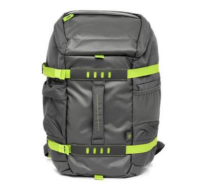 أتش بي 15.6 بوصة حقيبة ظهر, رمادي وأخضر