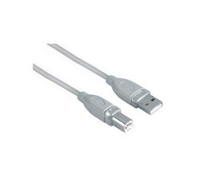 Hama 1.8M USB2.0 Cable Plug Grey
