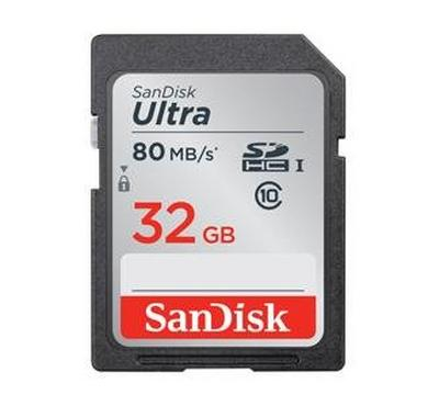 Sandisk Ultra SDHC Class 10 Memory Card, 32GB Capacity