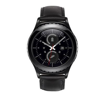 "Samsung Galaxy Gear S2 Classic 1.2"" Smartwatch Leather Black"