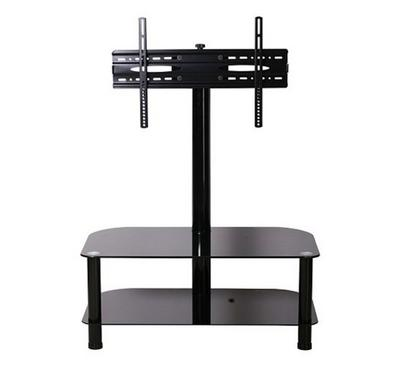 Bluetek Floor Stand Up to 55 TV, 2 glass shelves, Swivel Function, Weight capacity 50kg