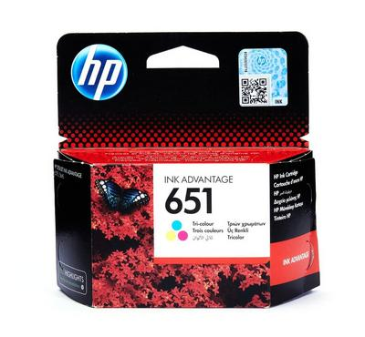 HP 651 Tri-colour Ink Cartridge