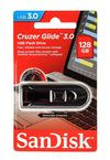 SanDisk 128GB Glide Flash Drive Black
