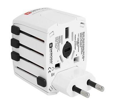 Skross MUV MICRO World AC Adapter Plug White