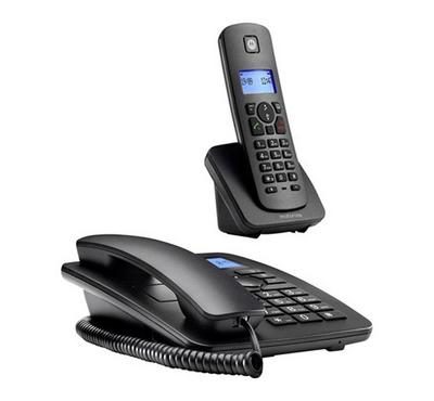 Motorola Combo Corded Phone With Cordless CID Black