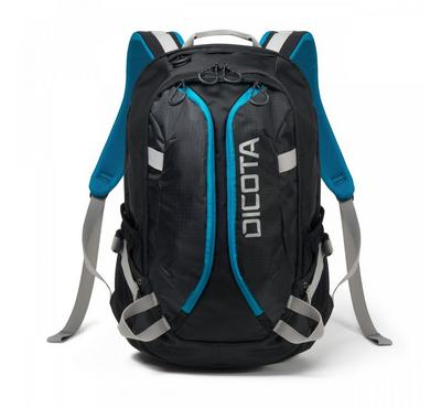 "Dicota ACTIVE 15.6"" Laptop Backpack Bag Black/Blue. Sporty"