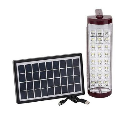 Mr. Light R/C Emergency 24s LED Light W/ Solar Panel 6V Red