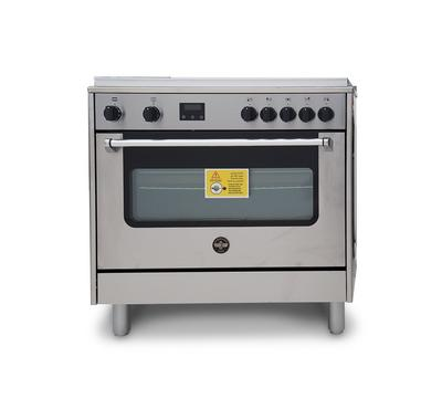 La Germania Americana C Cooker, 90X60cm, Multi function Electric Oven, 5 Burners,Steel