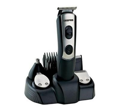 Geepas 9-In-1 Cordless Hair Clipper/Grooming Kit Black.