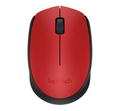 LOGITECH M171 Wireless Mouse, Red