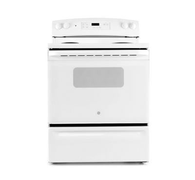 GE Free Standing Electric Range, 30 Inch, 4 Coil, White