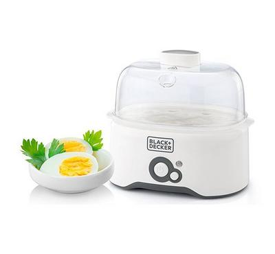 Black and Decker Egg Cooker, 280 W, 7 eggs cooking rack,White