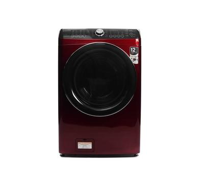 Daewoo Front Load Auto Washer/Dryer,15/8KG, Dark Red