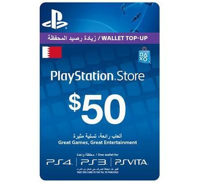 Sony PlayStation Store Card 50 USD Bahrain. PS3,PS4,PSVITA