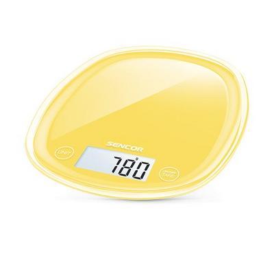 سنسور ميزان المطبخ سعة 5 كجم لون أصفر.