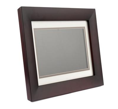 CAVOT 10 Inch Digital Photo Frame Wooden, Brown