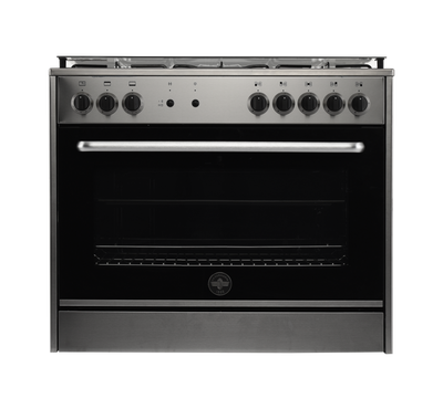 LaGermania Gas Cooker 90x60 5 Burners FS Steel