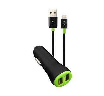 GOUI Dual USB Car Charger 4.8A, Lightning cable