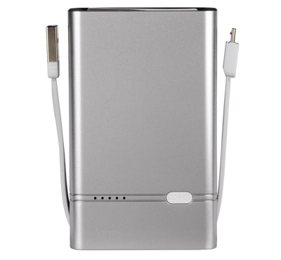 Hama Power Bank 6000mAh With Lightning Silver. 5-stage LED