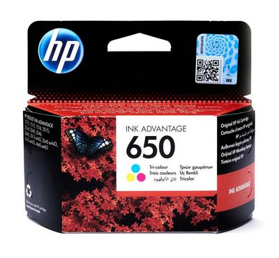 HP 650 Tri- Colour Original Ink Cartridge